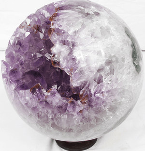 Amethyst Sphere #3 8-in-diameter-18-lbs.