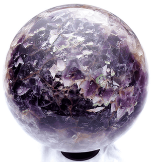 "GIANT Purple and Green Fluorite Sphere With Stand {8 3/4"" Diameter 41/lbs)"