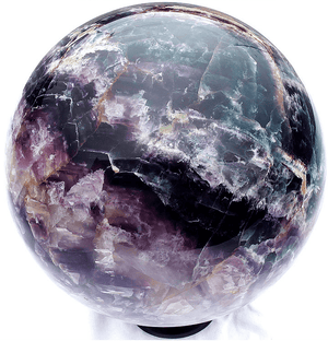 GIANT Purple and Green Fluorite Sphere with Stand (SOLD!)