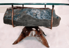 "Amethyst Geode table #27 Hand Forged Base 38""x 25""x 18.5"" Tall (Geode 27""x 16"" x 7"" thick)"