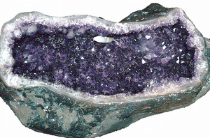 Amethyst Geode table #27 Hand Forged Base