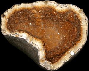 Citrine Geode Table with Custom Glass Top