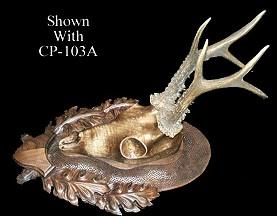 CP-103A - European Deer Skull Mount Panel