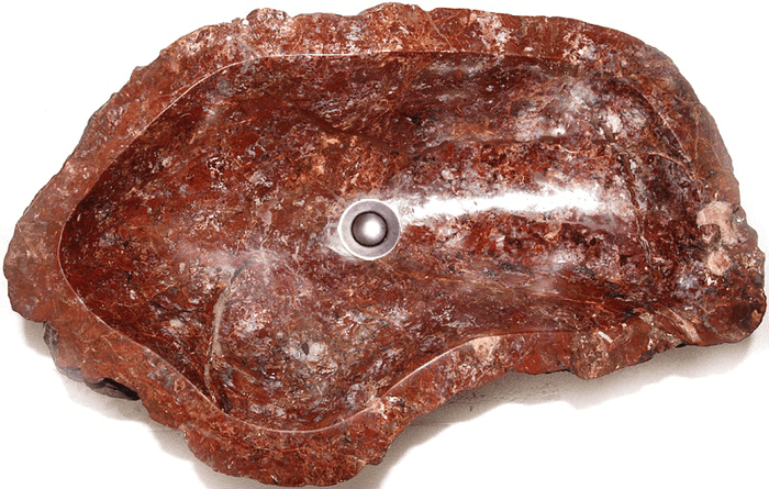 "Blood Jasper Gem Stone Sink With Opal #1A-EH (25"" x 15 1/2"" x 6"" Tall ) (contact for price and information)"