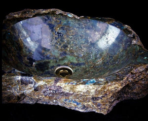 "Labradorite Sink #69 measures 23.5"" x 19.5"" x 6""tall x 148/lbs (Spring Sale)"