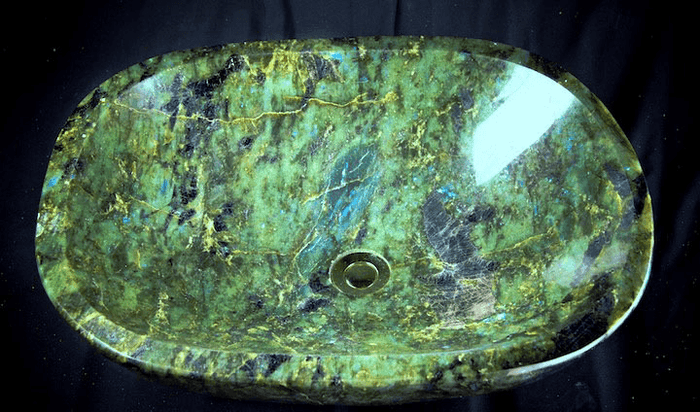 Labradorite Sink #43 (23 x 18 1/2 x 6 tall x 97/Lbs ) {Contact For Price}