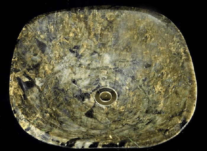 Labradorite Sink #56 (19 x 18 1/2 x 6 Tall x 59/Lbs ) {Contact For Price}
