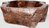 "Blood Red Jasper Stone Sink #2-EH (21 1/2"" x 17 1/2"" x 6"" Tall)"