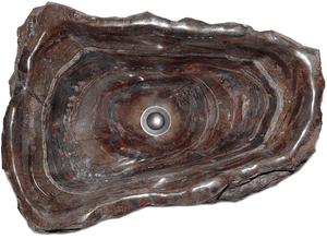 "Fossil Agate Sink #214-EH (24"" x 17"" x 8-9"" W/ 1 5/8"" Drain) {Free Shipping}"