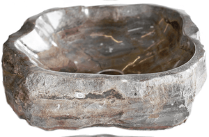 Natural Stone Sink from Fossil Agate #123-EH