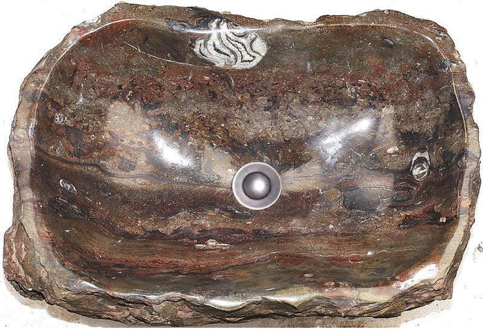 Natural Stone Sink from Fossil Agate #183-EH