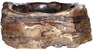 Natural Stone Sink from Fossil Agate #202-EH