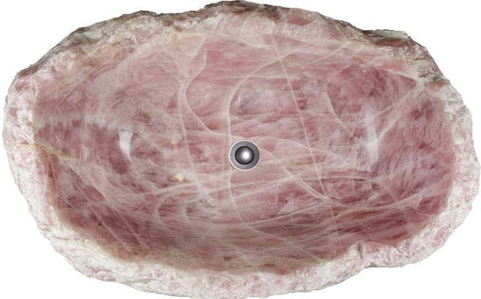 "Solid Rose Quartz Gemstone Farm Style Sink #13 (28"" x 18.5"" x 10.5""x 234/lbs) {SOLD!}"