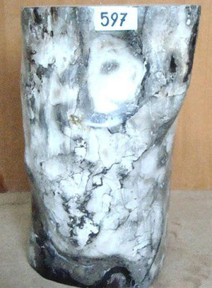 "Petrified Wood Side Table #597-EH (20"" Tall x 15"" x 12"")"