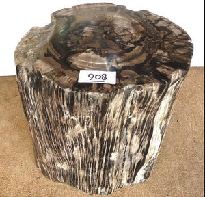 "Petrified Wood Side Table #908-EH (15"" x 13"" x 19"" Tall)"