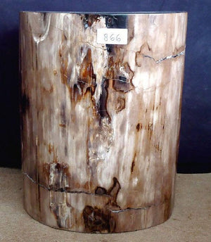 "Petrified Wood Side Table #866-EH (17.5"" x 16.5"" x 19.5"" tall } {Contact for Price}"