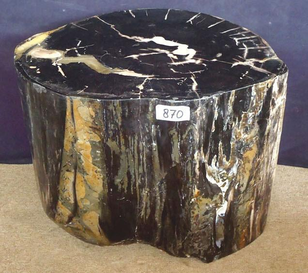 Petrified Wood Side Table #870-EH
