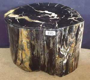 "Petrified Wood Side Table #870-EH (23"" x 17.5"" x 19"" tall)"