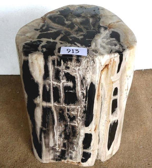 "Petrified Wood Side Table #913-EH (14"" x 12"" x 18"" Tall)"