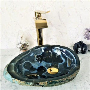 "Stunning Dark Blue Agate Geode Sink #50 (16"" x 13"" x 5"" ) {SOLD!}"