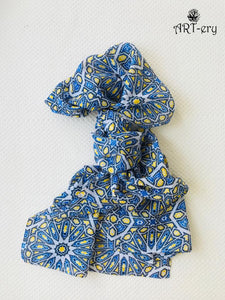 Abstract blue printed scarf
