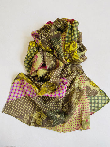 Earthy printed scarf