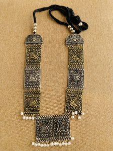 Ethnic tribal necklace necklace set with earrings