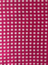 Geometric pink checkered printed scarf