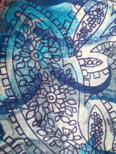 Indian printed blue scarf