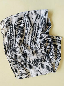 Infinity scarf in black and white