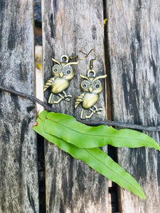 Miniature earrings - little owlet