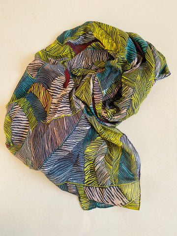 All shades of green  printed scarf