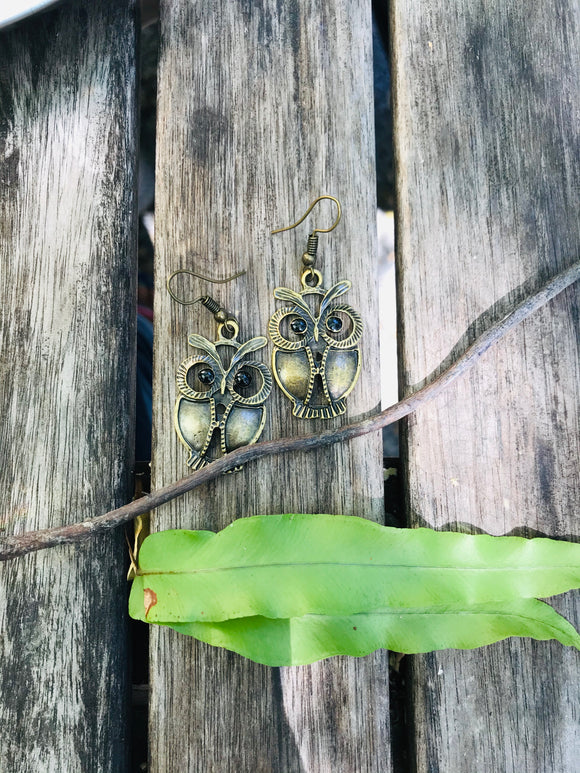 Miniature earrings - OWL