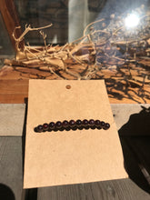 Purple black bead healing bracelet back