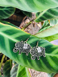 Small hook  elephant earrings with texture