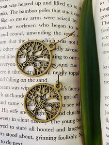 Tree of life miniature figurine earrings from ART-ery