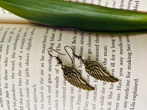 Wing miniature figurine earrings from ART-ery