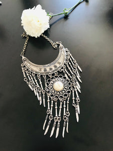 German silver trickle down necklace