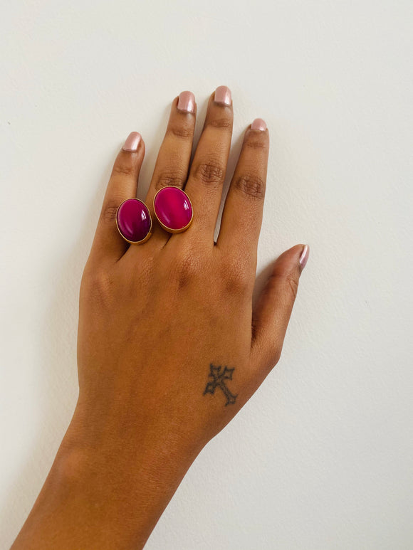 Magenta double ring