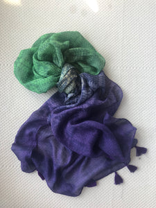 Copy of Ombre purple green printed scarf