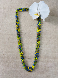 Light weight wooden beaded necklace - Multi color