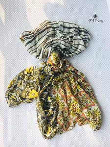 Earthy tone soft printed ART-ery scarf