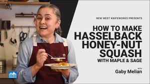 Hasselback Honey-Nut Squash with Gaby Melian
