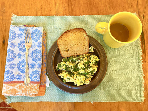 Herbs and Greens Scrambled Eggs
