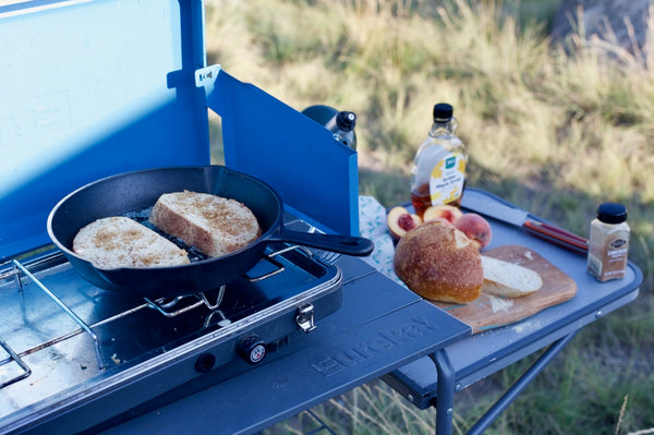 Camp stove french toast