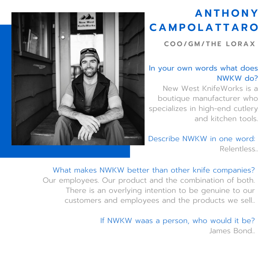 New West KnifeWorks Chief Operating Officer Anthony Campolattaro