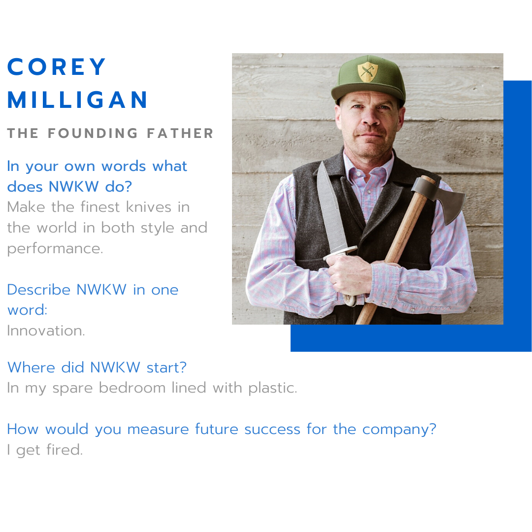 New West KnifeWorks Founder Corey Milligan