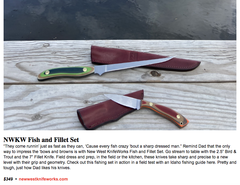 Fish and Fillet Knife Set Fathers Day Gift Guide
