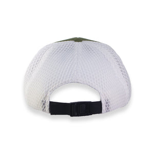 Olive / White Hydro Hat with Gold Shield - JH