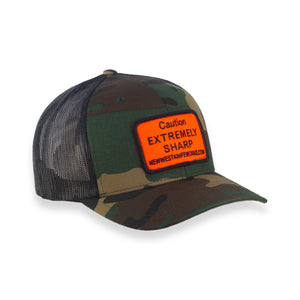 Camo Trucker Hat Extremely Sharp Patch - JH